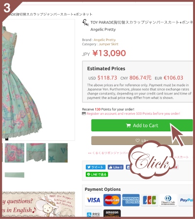 c10510e665 If you would like to delete an item from the cart, please click「×」on the  left of the item picture .